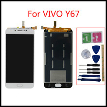 цена на For VIVO Y67 LCD highscreen  LCD Display Touch Screen Digitizer Assembly Y67 LCD Monitor Panel Replacement Part+repair tools