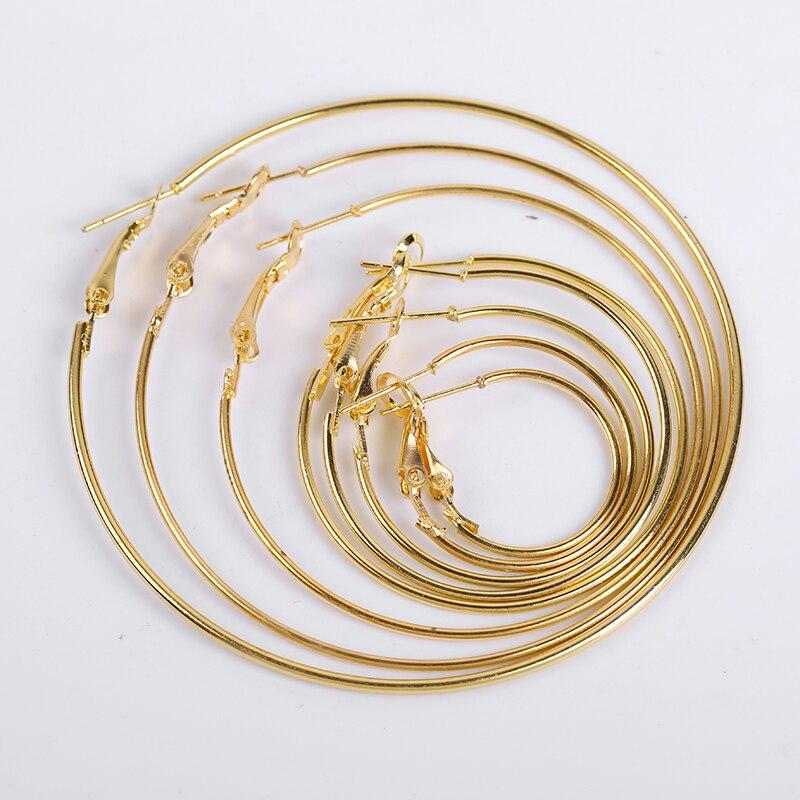 10 Pcs/Lot Big Earrings Pin Buckle Hoop Earrings DIY Circle Earring Hooks Accessories Findings Jewelry Making