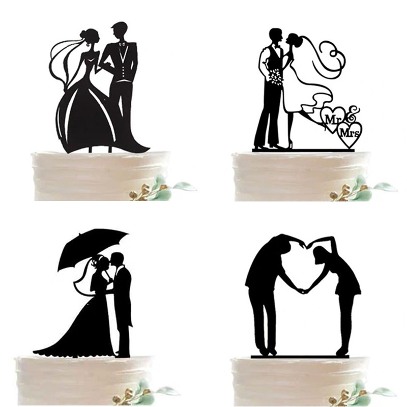 Black Glitter Paper Letter Mr and Mrs  Wedding Cake Topper Bride and Groom Anniversary Party Supplies Cake Decoration
