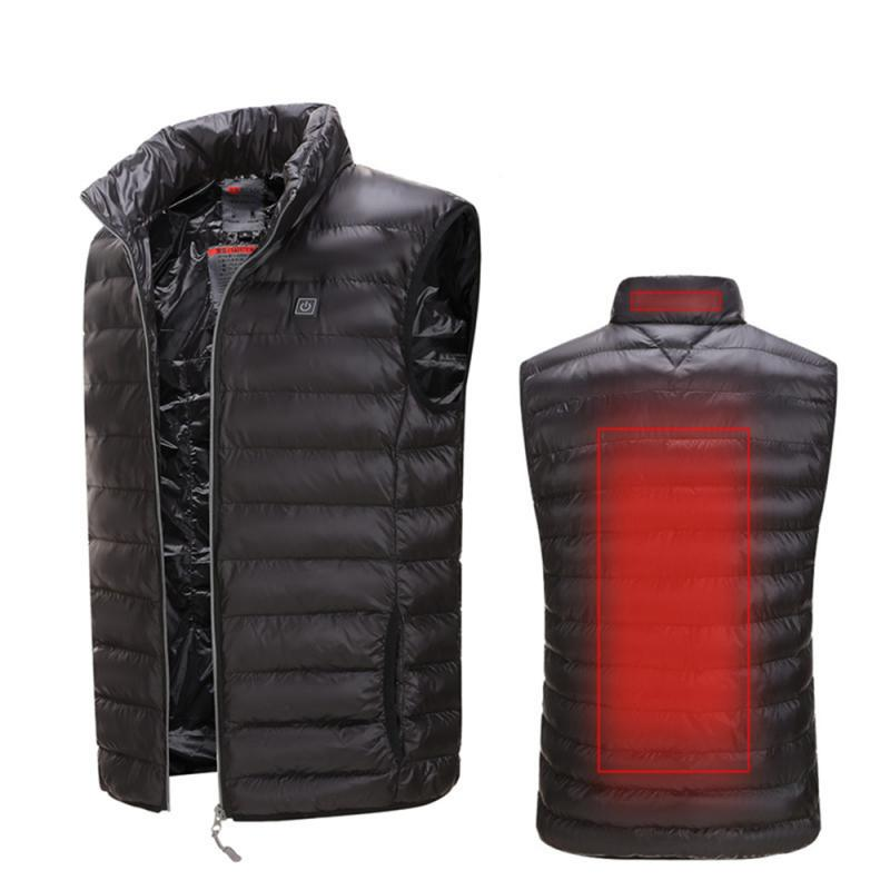Smart Fever Heated Warm Down Jacket Washable USB Charging Heated Clothing Graphene Heating Coat Jacket|Hiking Vests| |  - title=