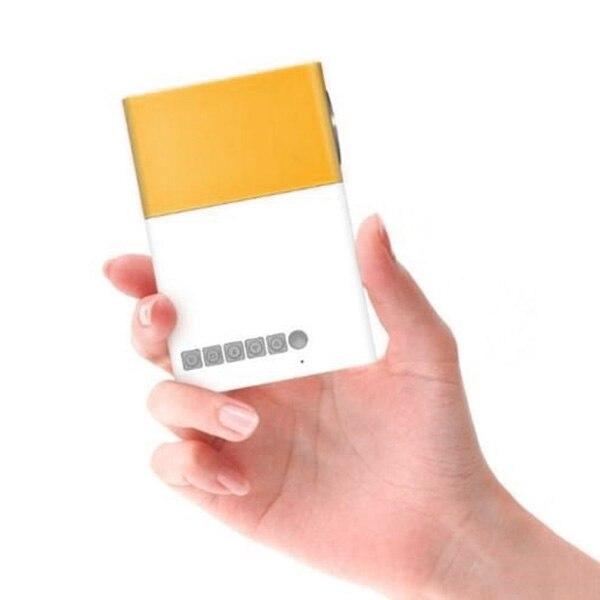 projetor mini projetor portatil teatro escritorio em casa hd 1080 p amarelo lhb99 05