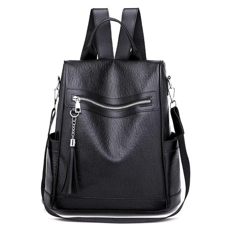 2020 новый рюкзак женский корейский стиль персонализированный Универсальный меховой шар большая Вместительная дорожная сумка легкая водонепроницаемая Студенческая-4