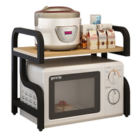 Kitchen Storage Rack Microwave Oven Double Layer 2 layer Rice Cooker Supplies Seasoning