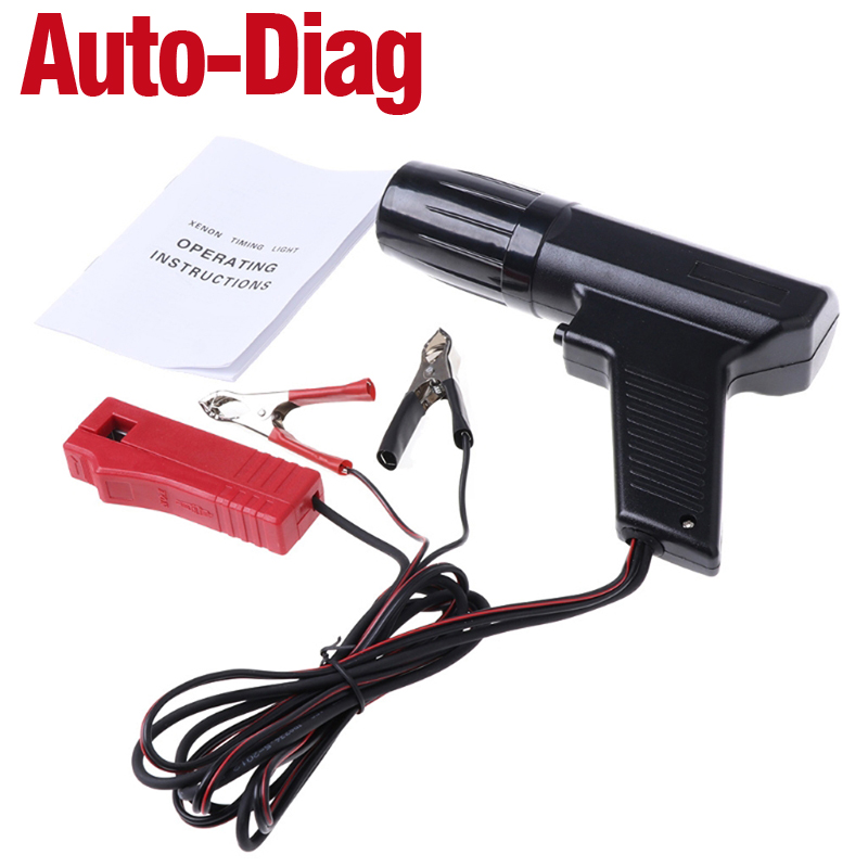 12V Professional Car Ignition Timing Light Strobe Lamp Inductive Petrol Engine Timing Gun For Automotive Motorcycle Marine Test