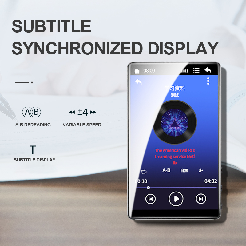 Image 4 - 4 Inch Mp3 16GB Walkman Portable MP4 Player Full Touchscreen  Music Player E book Voice Reading MP5 FM Video PlayerMP4 Player   -
