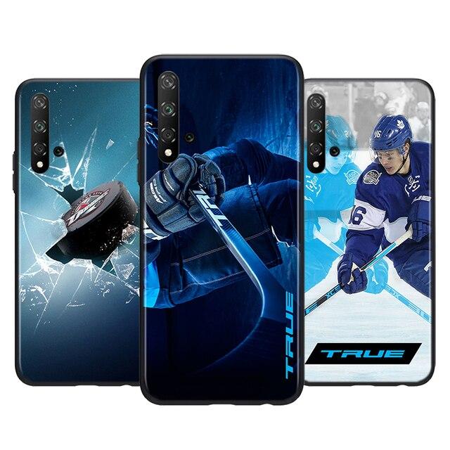Patinoire de Hockey Sur glace sport pour Huawei Honor 9S 9A 9C 30 20 10i 9X Lite 8X 20 10 10i 9 Lite 8C 8A 7C 7A Pro Noir Étui de Téléphone