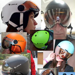 Image 4 - LOCLE лыжный шлем сверхлегкий PC + EPS CE EN1077 мужской женский мужской лыжный шлем для спорта на открытом воздухе сноуборд/скейтборд шлем