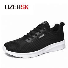OZERSK 2020 Spring New Mesh Men Casual Shoes Lac-Up Men Shoes Lightweight Comfortable Breathable Walking Sneakers Size 39~48