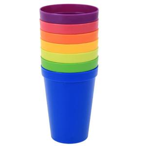 7Pcs/lot 7 Color Portable Rainbow Suit Cup Picnic Tourism Plastic Coffee Tea Cup Household Cups(China)