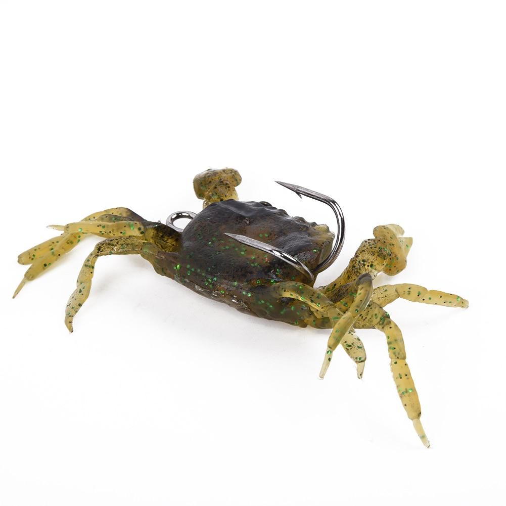 10cm Saltwater 3D Manic Crab Lures Bass Wrasse Sea Fishing Hook Tackle Bait PVC