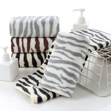 Simple Stylish And Convenient Household Coral Fleece Bathroom Towels With Thick Stripes Comfortable And Soft Super Absorbent