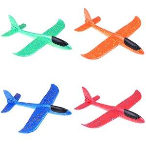 37cm epp espuma mão jogar avião ao ar livre lançamento planador avião crianças brinquedo presente brinquedos interessantes