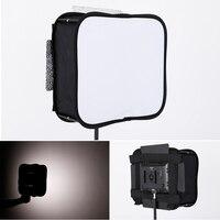 Led flash grade luz dobrável softbox portátil retrato tiro especial durável softbox preto