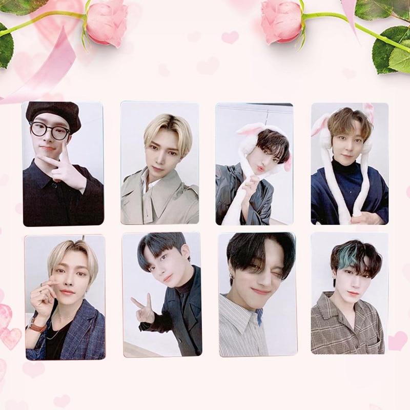 8Pcs/Set Kpop ATEEZ Photo Card Postcard Lomo Card For Fans Collection New Arrivals