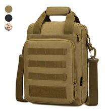 Tactical Briefcase Crossbody Bag Heavy Duty Military Shoulder Bag Messenger Pack Mens Handbag for Outdoor Hunting Camping