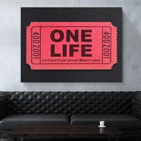 1 Piece printed Painting LOGO Canvas Picture Art Obrazy Pop Art Canvas HD Movie Poster Wall Art