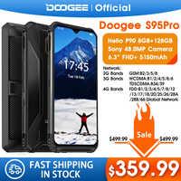 IP68/IP69K DOOGEE S95 Pro Modular Rugged Mobile Phone 6.3inch Display 5150mAh Helio P90 Octa Core 8GB 128GB 48MP Cam Android 9