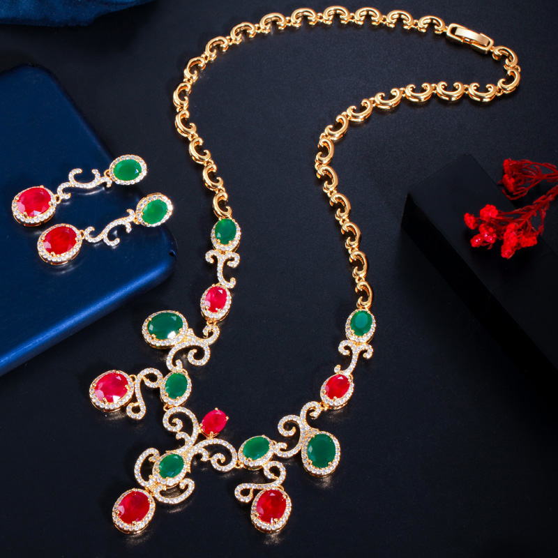 Simple Fashion Necklace and Earrings Set