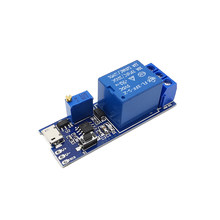 Smart Electronics Control Module Trigger Delay Switch 5V-30V Micro USB Power Adjustable Delay Relay Timer