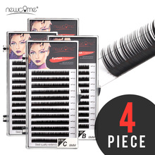 12Lines Individual Eyelash Extension Maquiagem Cilios Eyelashes Premium Faux Mink Silk Volume Makeup