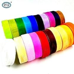 HL 25MM Width 50Yards Lots Colors Choose Transparent Organza Ribbon Weaving Decorations DIY Crafts Gift Box Wrap Belt A045