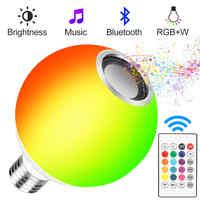 Lampe LED à changement de couleur RGB ampoule RGB lampe à LED projecteur musique télécommande ampoule LED lumière magique lumière de musique intelligente