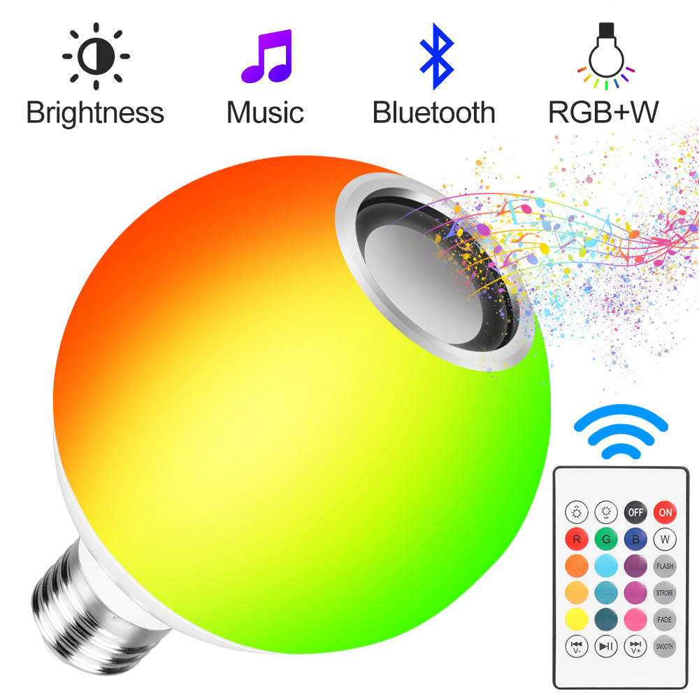 Light Lamp LED Color Changing RGB Bulb RGB Led Lamp Spotlight Music Remote Control LED Bulbs Magic Light Smart Music Light