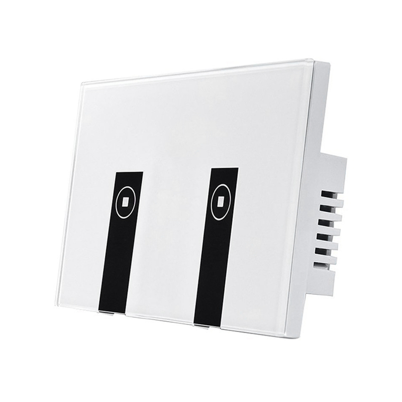 Wifi Smart Light Switch,2 Switches Press Wall Plate Alexa Light Switch,In-Wall Wireless On/Off Wall Switch,Timing,Voice Ap