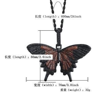 Image 5 - JINAO חדש אייס מתוך חרקים ססגוניות פרפר תליוני & שרשראות מיקרו פייב קובני זירקון אבן תליון שרשרת היפ הופ מתנה