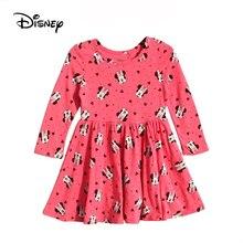 Disney Cartoon Minnie Mouse Princess Girls Dress Kids Dresses for Girls  Toddler Fall Dress Cute Little Girls Costume Pink Dress