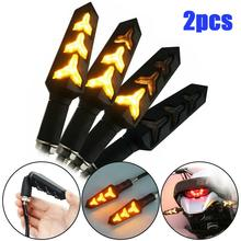 2pcs Motorcycle LED turn signal lights sequence flow indicator stop luces motorcycle light Ktm fast CSV