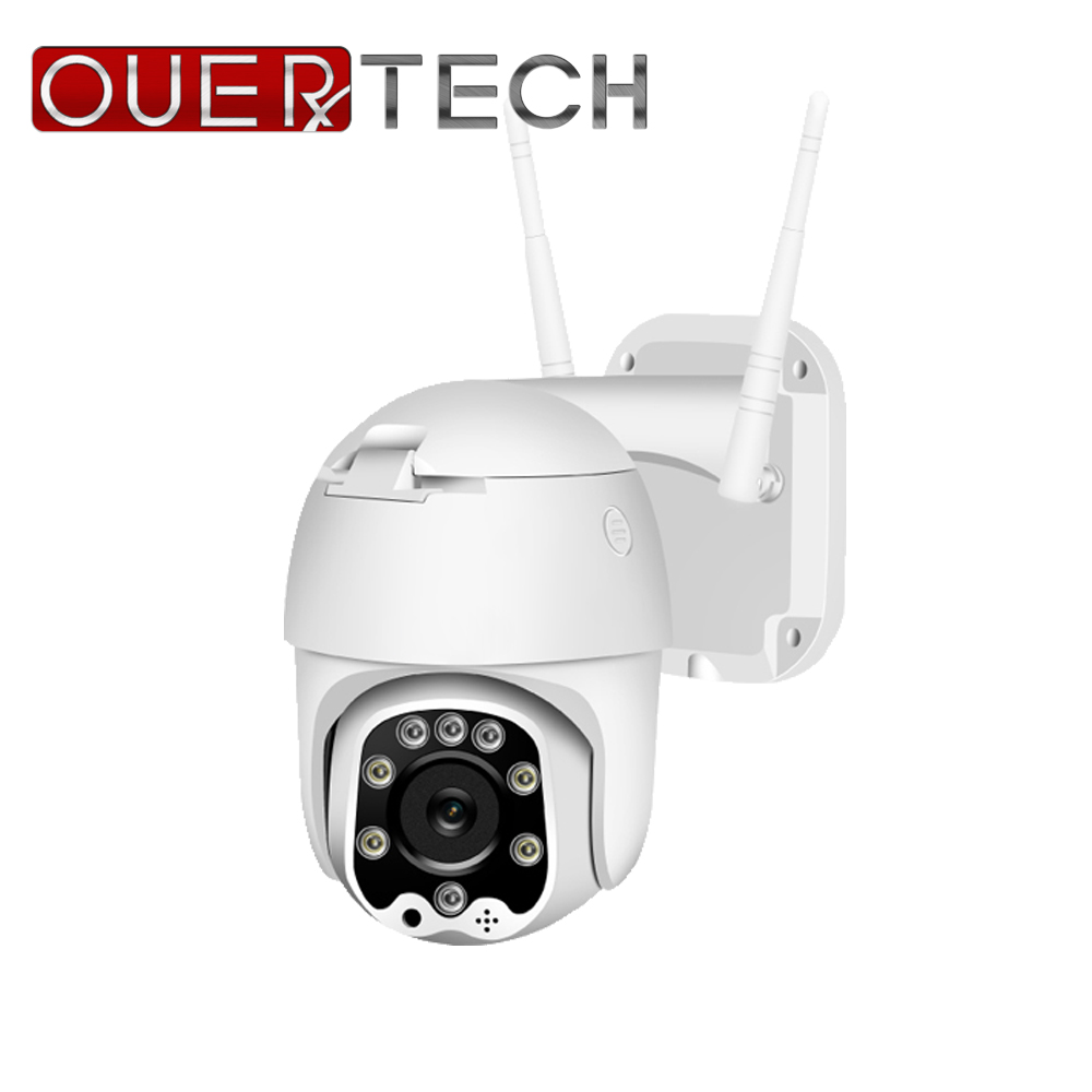 OUERTECH 5X Optical Zoom WIFI PTZ Camera H.265 1080P Waterproof Outdoor Camera Human Detection LED Light Cloudy Storage