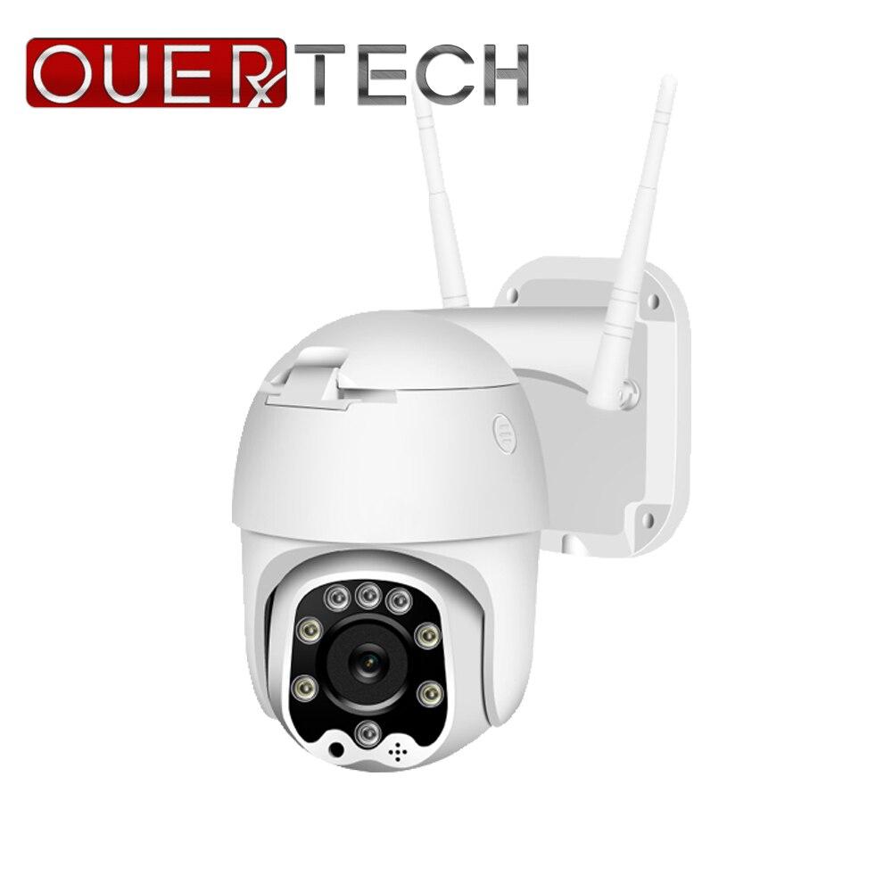 OUERTECH 5X zoom optique WIFI PTZ caméra H.265 1080P étanche caméra extérieure détection humaine lumière LED stockage nuageux