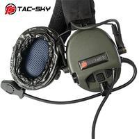 ווקי טוקי TAC-SKY-טוקי ווקי טוקי U94 PTT + TEA היי-איום Tier 1 מחממי אוזניים מסיליקון הירי ההגנה הצבאית שמיעה טאקט KENWOOD U94 PTT (3)