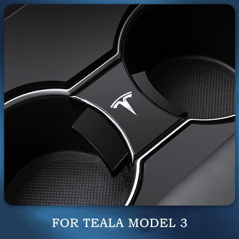 Автомобильные аксессуары для Tesla модель 3 машинный гараж из стакана воды слот скольжения Концевой Зажим ABS зажим-подставка для чашек огранич...