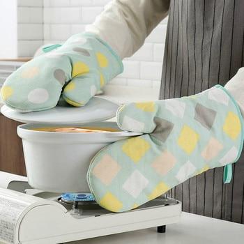 Guantes De Cocina para horno De microondas Kawaii resistentes al calor olla...