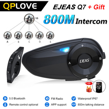 EJEAS Quick7 Bluetooth 5.0 intercom 2 seconds to quickly pair 7 Riders Wireless Waterproof Interphone Headsets FM Gift Scarf