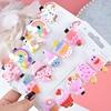 10PCS/Set New Girls Cute Cartoon Ice Cream Unicorn Hair Clips Kids Lovely Hairpins Headband Barrettes Fashion Hair Accessories 2