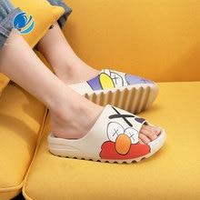 Mo Dou 2021 Summer Slides Men Shoes Slippers Indoor House Flip Flops Graffiti Casual Beach EVA Quality Cartoon Shoes Soft Home