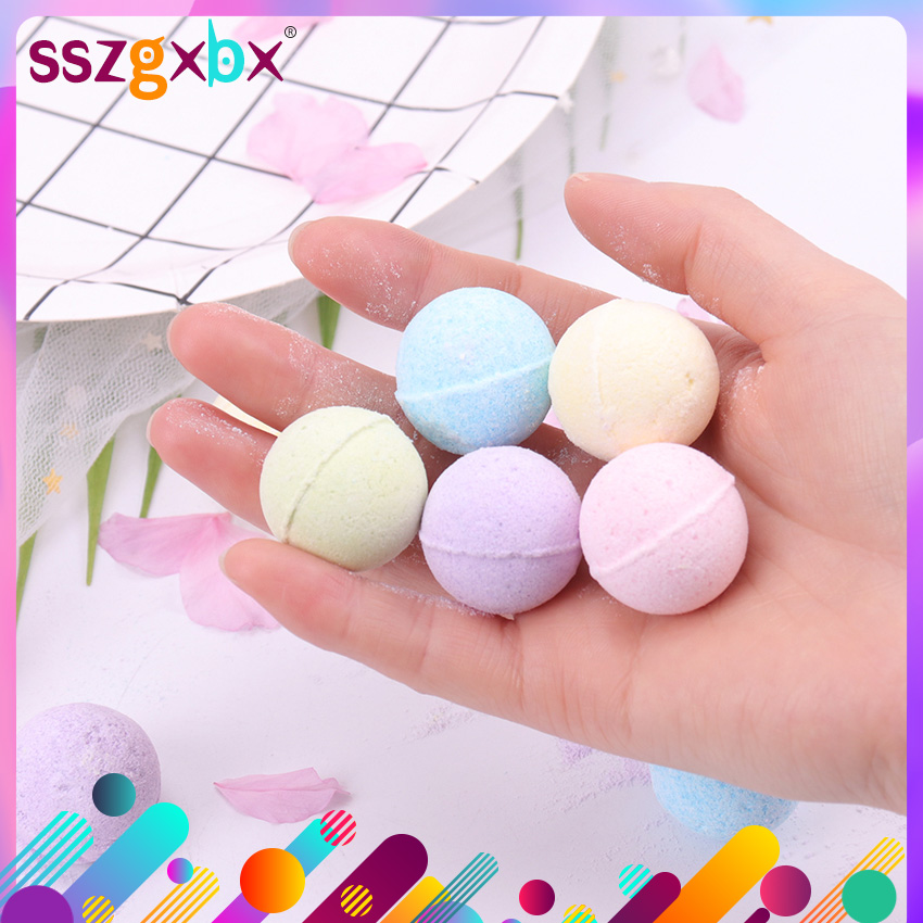 1PC Organic Bath Salt Body Essential Oil Bath Ball Body Skin Whitening Ease Relax Stress Relief Natural Bubble Bath Bombs Ball