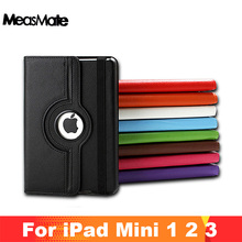 360 Rotation PU Leather case for Apple iPad Mini 1 2 Smart cover  flip cases with stand function for Pad Mini with Retina Fundas аксессуар чехол momax flip diary для ipad mini retina black
