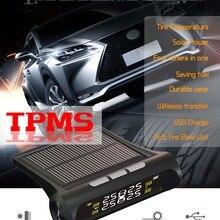Car solar TPMS tire pressure monitor Wireless Tire Pressure