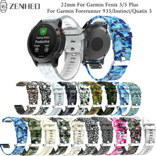 22mm Printed silicone Quick Release strap For Garmin Fenix 5/5 Plus band Forerunner 935/Instinct/Quatix 5 bracelet