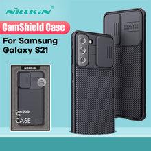 Para samsung galaxy s21ultra caso nillkin camshield caso slide câmera de proteção capa traseira para samsung galaxy s21 plus para s21
