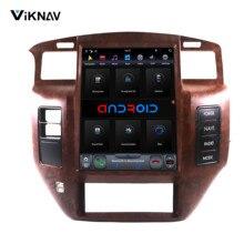 2 DIN Android автомобильный Радио мультимедийный плеер для NISSAN PATROL Y61 2004-2019 автомобильный стерео Автомагнитола Авто Аудио вертикальный Tesla