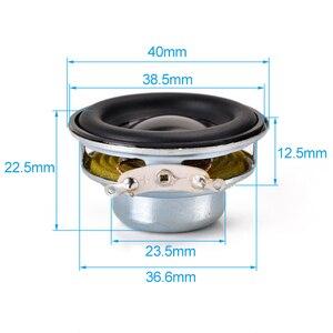 Image 5 - 2pcs 40mm Full Range Speaker 1.5inch 3W 5W 4 8 ohm HiFi Rubber Side Speakers DIY Portable Bluetooth Speaker Mini Music Speakers