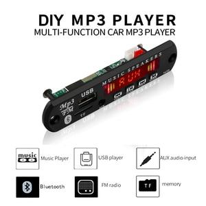 Image 2 - Kebidu 5V 12V Bluetooth MP3 WMA Decoder Board Wireless Audio Modul USB TF Radio Für Auto Zubehör Farbe screen Audio Player