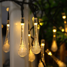 3m Christmas Tree LED Night Light Waterproof LED String Light for Home Wedding Party Decor Garden Water Drop Lamp christmas tree shape led night light wall home decor