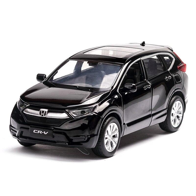 1/32 Honda CRV Model Car Alloy Diecast Kids Toy Car SUV Model Pull Back Car With Sound Light Vehicle Toys For Children Gift
