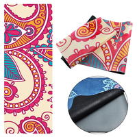 Multicolor Printed Suede Anti Slip Yoga Mat 1.5mm Folding Rubber Pad With Bag and Rope Fit Body Building Pilates Portable Travel